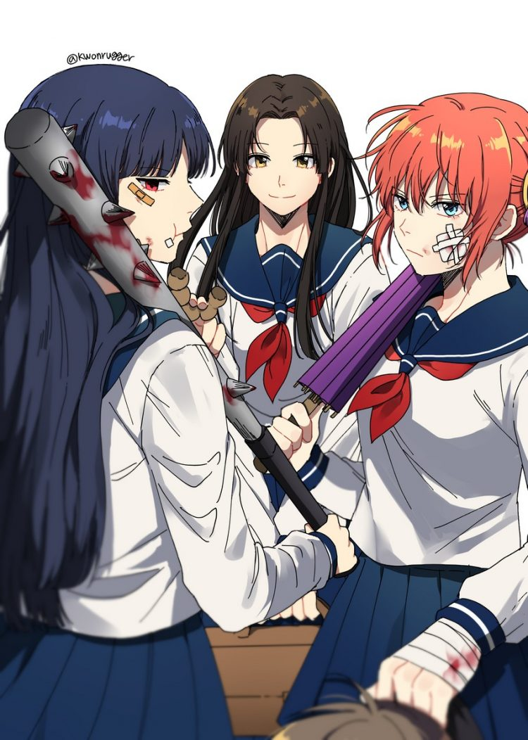 *memories of cosplaying in school uniforms with mommy Helena and sis Kagura. Kagura and I were very