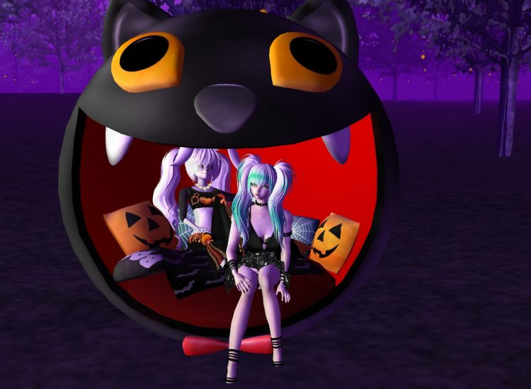 *Enjoying Halloween with Ginkachi cousin.* Happy Halloween!! @whitebunnysoul tamakiandginkachiimvu4