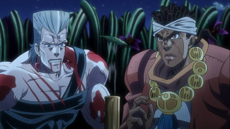 **The appearance of Avdol and Polnareff** @polnareff *There was a rift that opened and allowed them