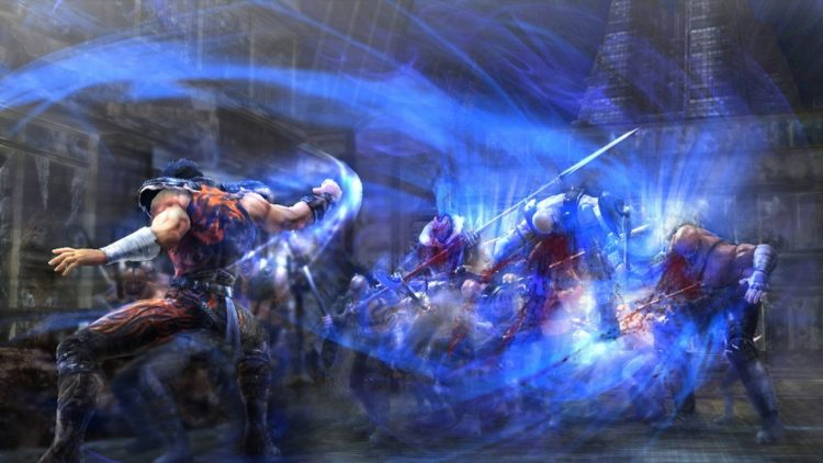 *Kenshiro had moved further away from the hospital as he was fending off some opportunistic mercenar