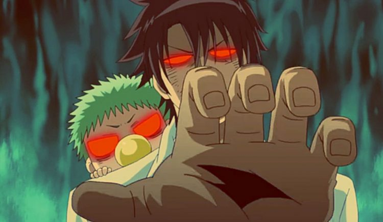 *Oga and Baby Beel were also outside the gates of the academy crushing incoming monsters. They felt