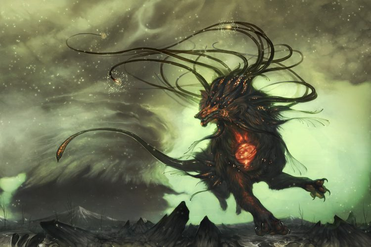 *A creatures that was running away from the storm set it's sights on an area where it could sm