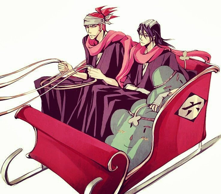 *Outside on a sled, arriving with the gifts for/from family.* Byakuya, remember we're stacking