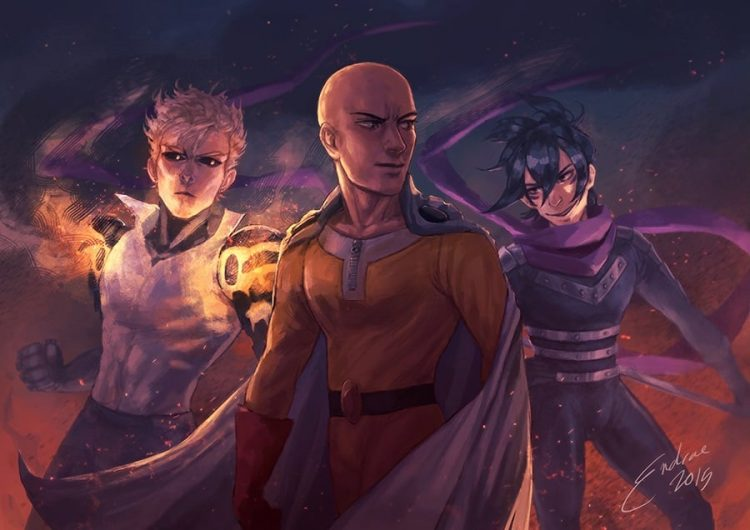 @goldsugardemonkin @one-punchman Saitama-Genos-and-Sonic