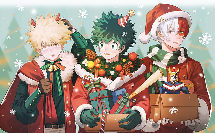 @brownflamesoul @midoriya // Merry Christmas to all family and friends! anime-my-hero-academia-chris