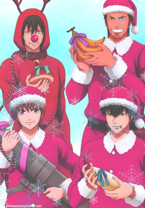 // OOoh Merry Christmas from the Shinsengumi! @hijikatatengusensei @sadistprince @anpanman tumblr_71
