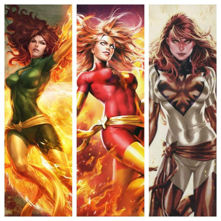 Three Stages of Jean Grey