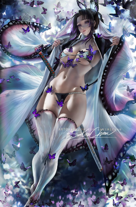 // *approaches her husband Gin.* Don't you look scrumptious! butterflies