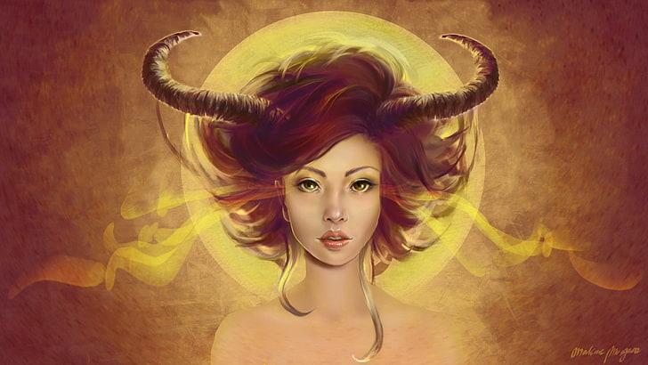 fantasy-demon-girl-green-eyes-wallpaper-preview