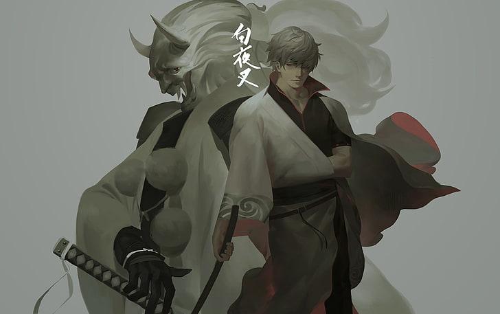 sakata-gintoki-gintama-red-eye-katana-wallpaper-preview