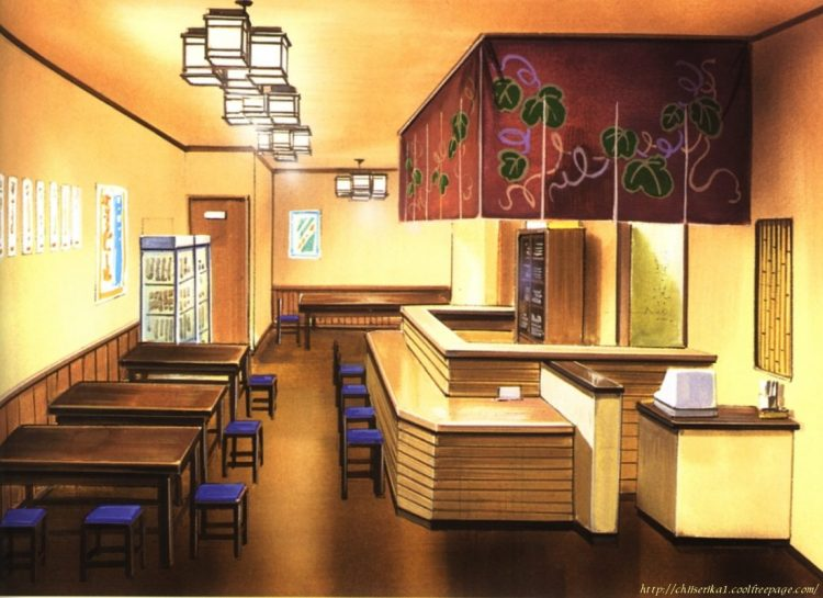 *Eating area for those staying at the dorm.*Chobits.full.124571