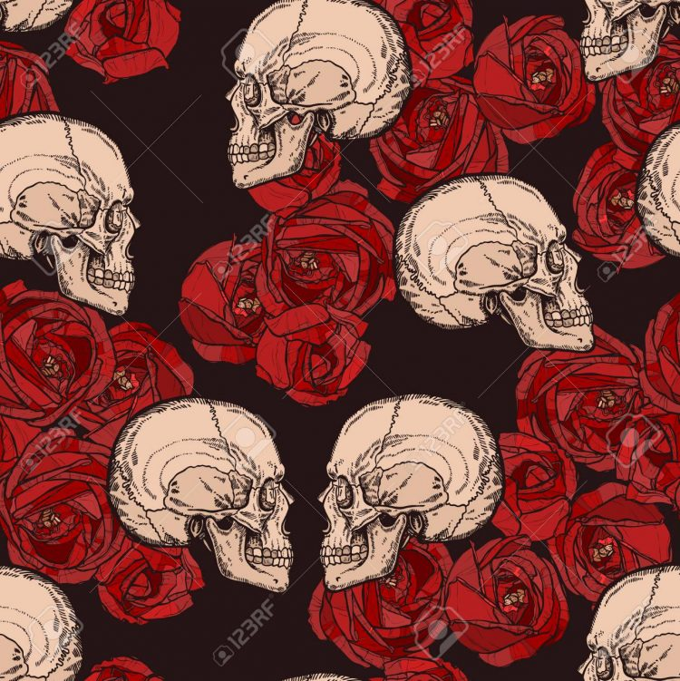 Perfect combination! *wicked smile* Roses n Skulls