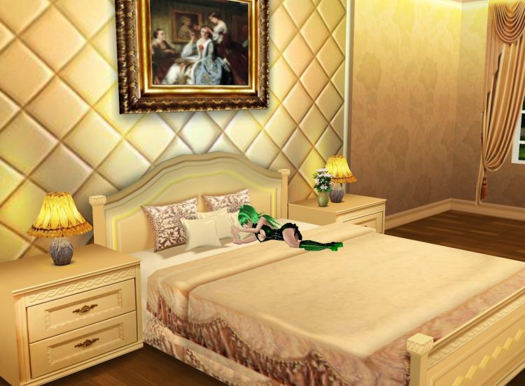 *Sighed after no one showed up so she went to her room she used when there and fell asleep holding t