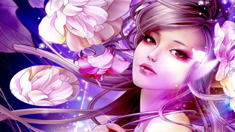 *Ren wakes up in a bed of flowers on the side of the mountain, she slowly gets up and looks over to