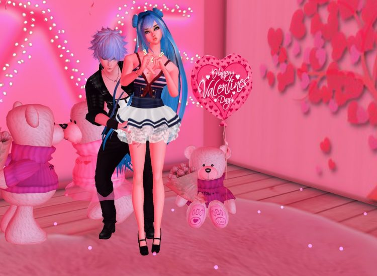 @bezaliel Happy Valentine's Day! *Taking a picture at the bakery's photobooth with boyfr