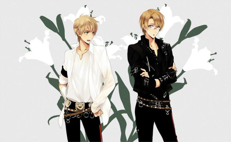 sons Kinzou and Keiichi @twinblondesugardemons 2-guys-monochrome-1bmw67c