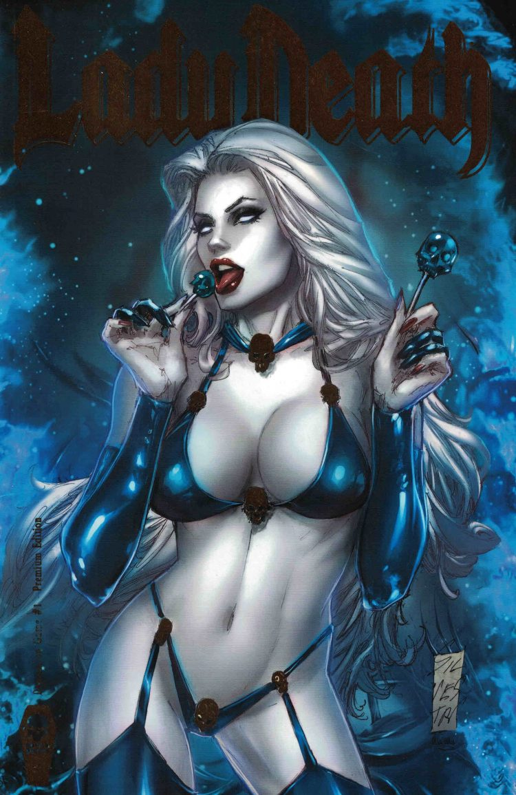 *The god girl of death stop by her family shop to get some candy.* 7-15-2016-3