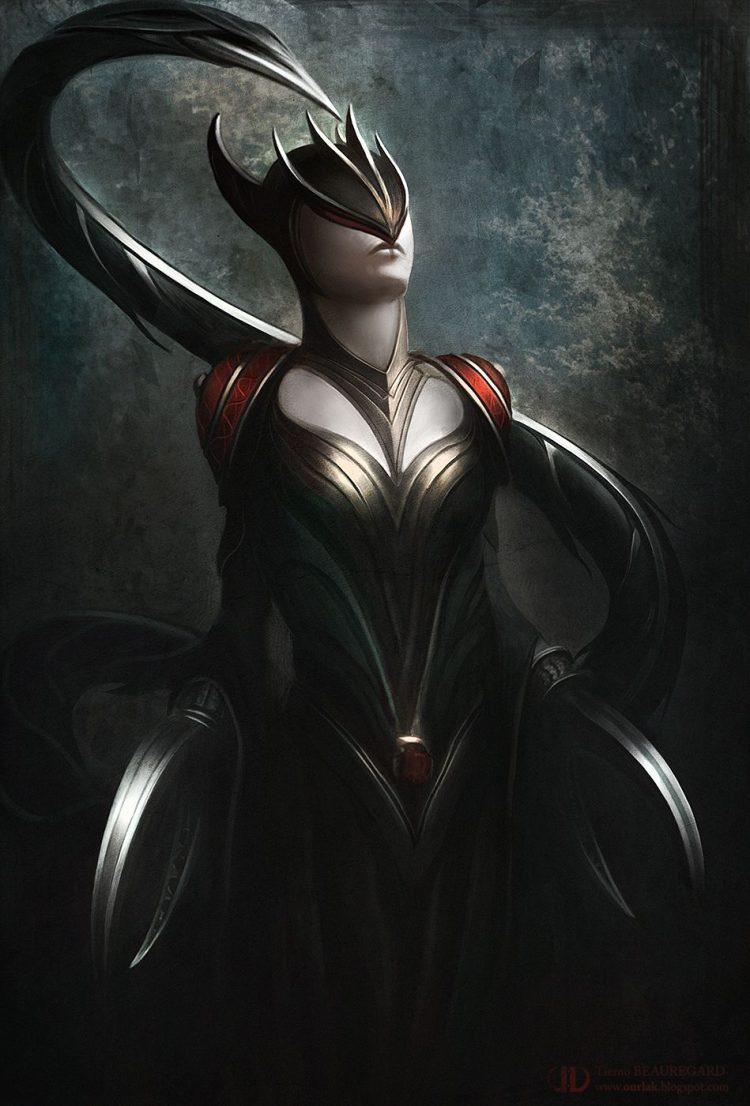 *Satana had just finished killer her latest opponent and gaining all his energy and abilities. She t