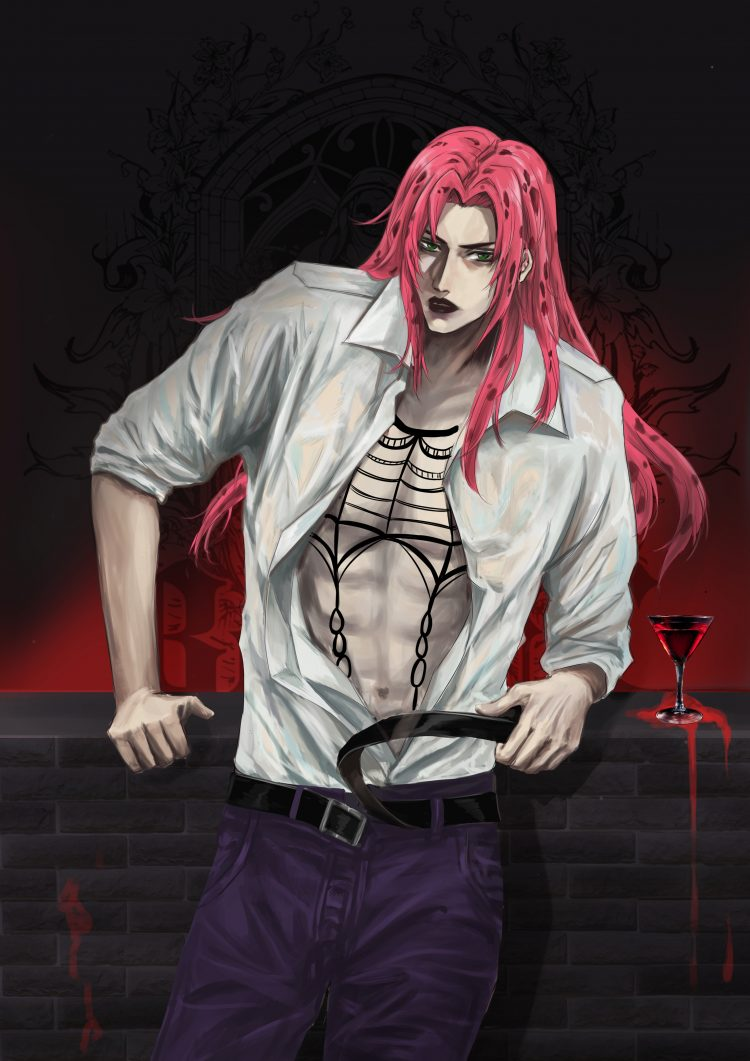 *Diavolo was finally relieved to leave the medical center and come across a delightful nightclub to
