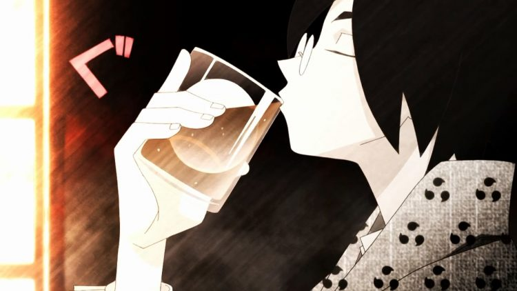 *he drink his oolong tea* everything back to normal how nice is it…. one more glass Zan Sayona