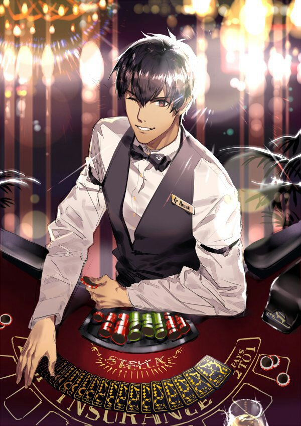 *He was behind one of the tables and notices when Ginko walks in.* @ginkobellanieve Hello! You look