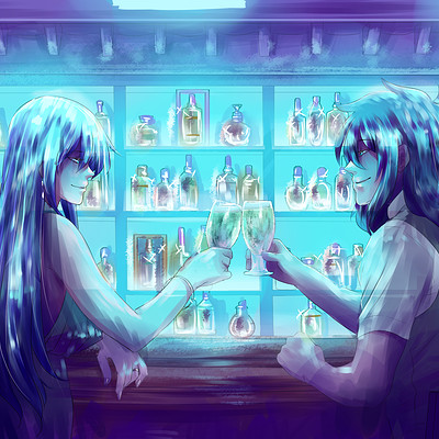 *Has a drink with her brother Dez after successfully reopening Sugar Storm Nightclub.* @imperialbloo
