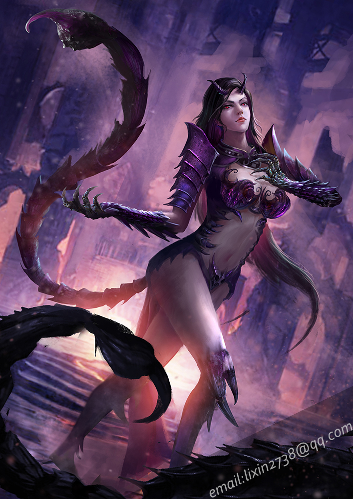 *Satana's goal was almost complete. She had to fight a few more demons above her class and the