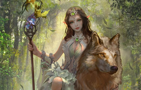 *Awakens the Demon Wolf Tribes and searches for her uncle Koga with a young wolf that offers her a r