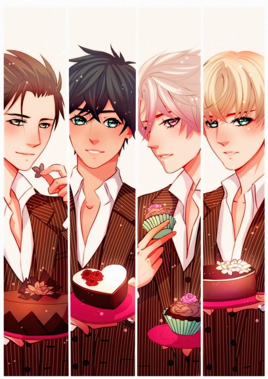 *Kiyoshi, Dieguito, Kinzou and Keiichi were serving up sweets to the ladies in the Bakery Butler Roo