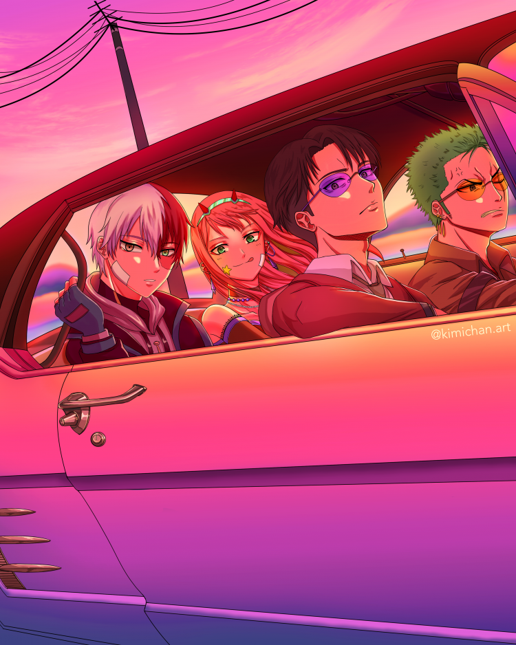 *Zoro was glad to get work as a driver and he had the pleasure of driving some friends around.* @tet
