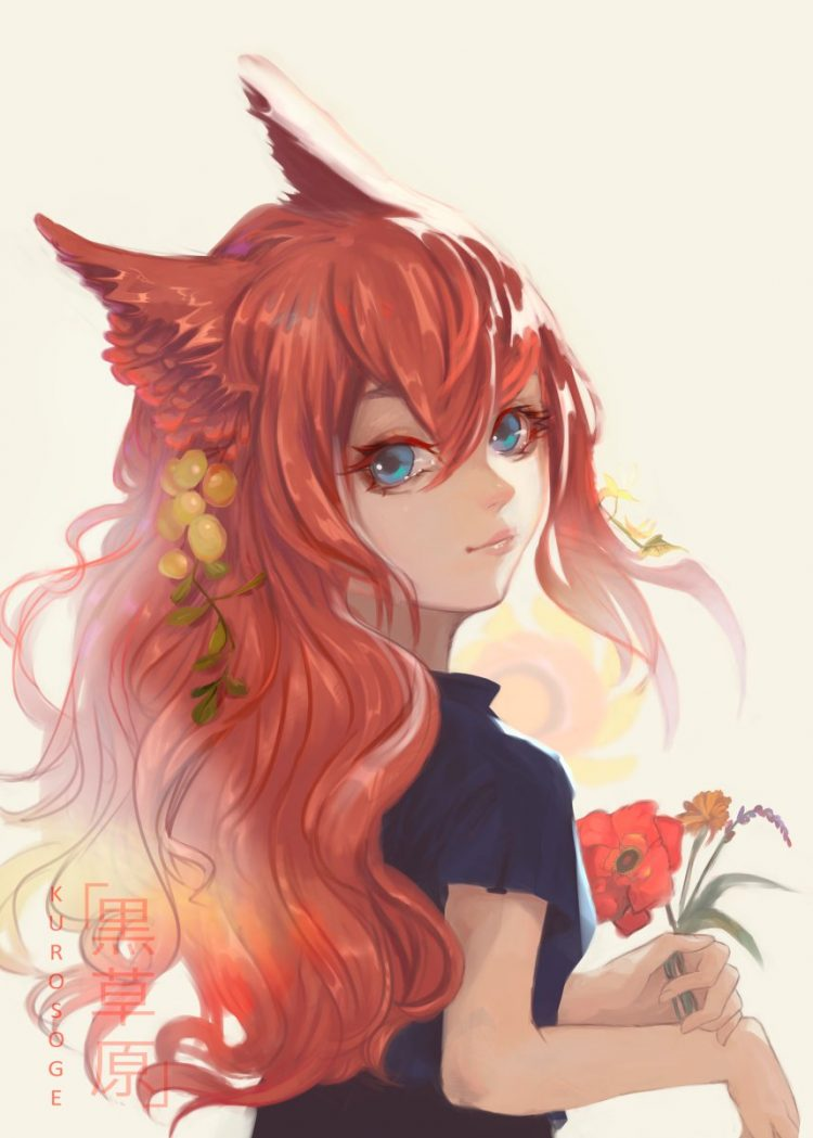 *Takes a part-time tending to the flowers at the shop.* DiZ1SMwU8AAgvTw