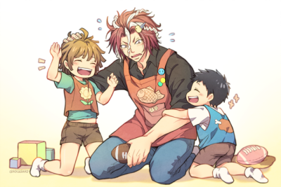 *Volunteers some of his time to help take care of the children at the orphanage.* tumblr_opiyvwW6xG1