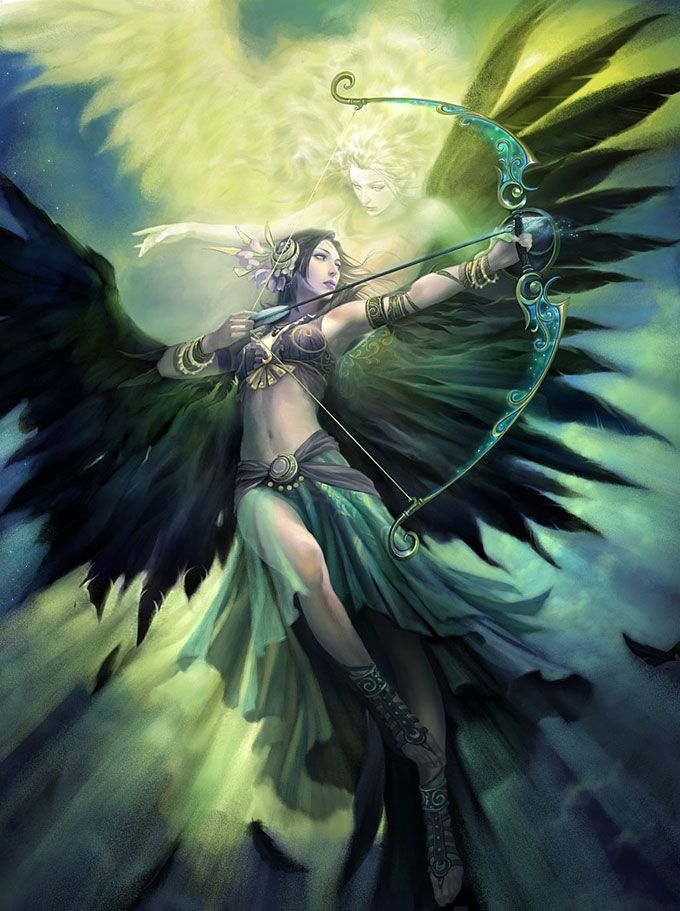 *Helena spreads her seraphic wings. She takes to the sky and from an amazingly long distance she pra