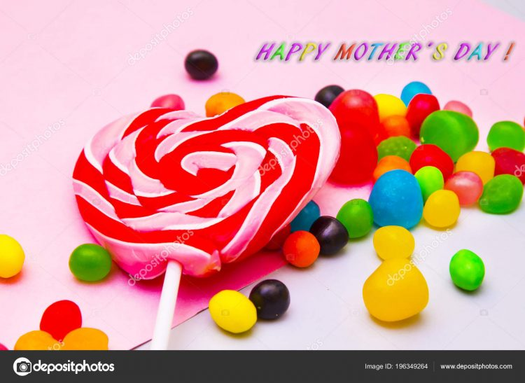 // Happy Mother's Day (month) to all moms! // mother's day greeting card. candies and lol
