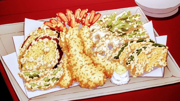 *Rei brings fresh tempura to the picnic.* Hello minna! Happy Mother's Day! Glad to see you all