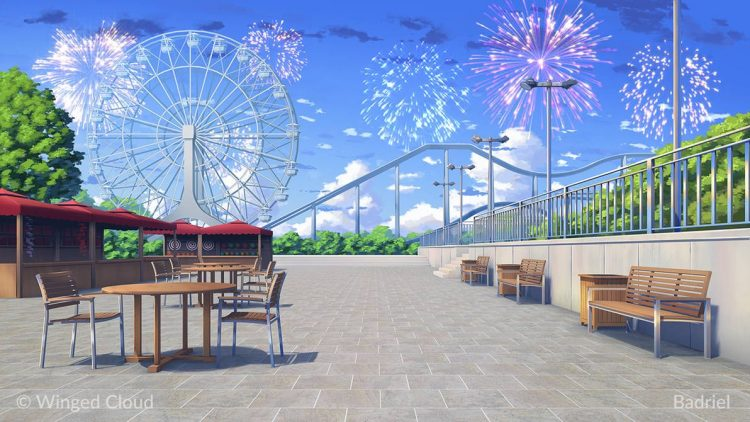 *After leaving Sakura Lane, a group that had been traveling together finally arrive at Funlandia. Th
