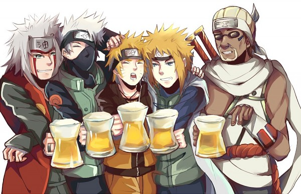 *Takatin intended to bodyguard his bosses Gin and Naruto but ended up being pulled in to drink with
