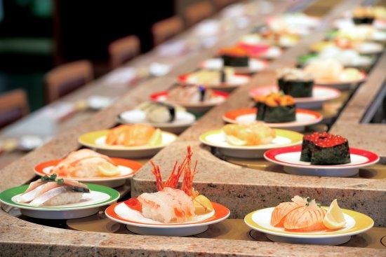 *Sets up the food conveyor belt for father's day celebrations.* conveyer-belt-sushi