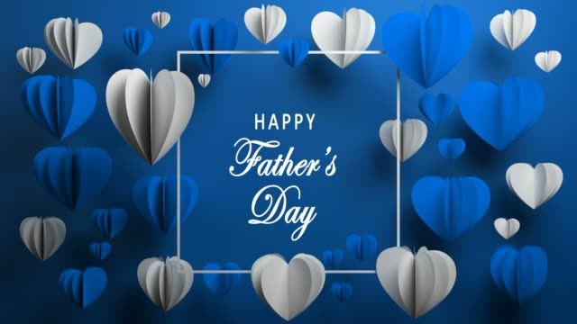Happy Father's Day, Heart Shape, Holiday Card, Background