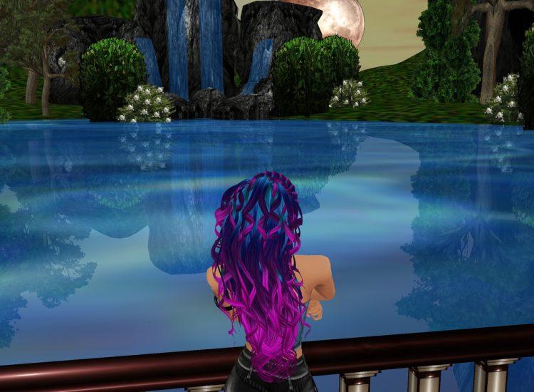 *Enjoying an amazing view while visiting Lady Lilith.* kanamelilithslakeview.imvu