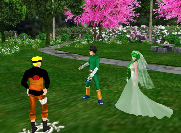 @bushybrows @narutokyuubishadowlightuzumakii (IMVU) *Enjoying a walk in the park with Naruto and Roc