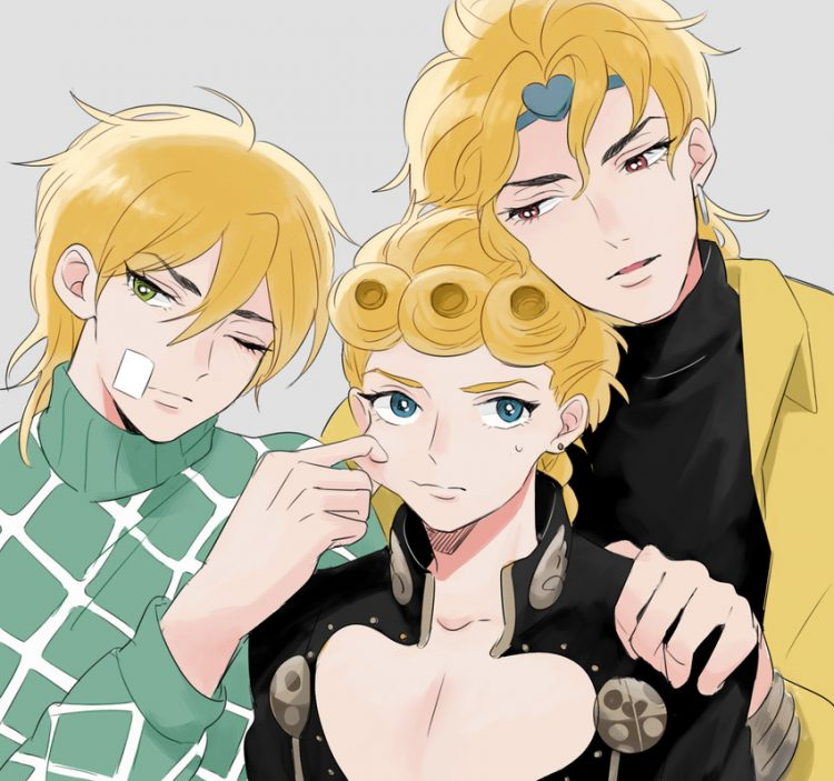 @lorddio Have a Damnable Father's day you wretch!! From your boys Giorno and Diego! *Looks at