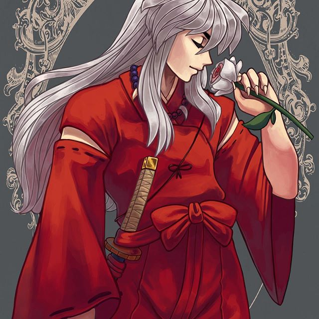 *Kuzuha's @silverspiritfox great grandfather stops into the garden and finds a rare rose which