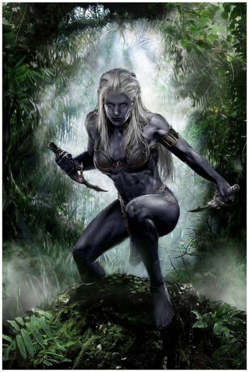 *she switched it up a notch by turning into her dark elf form* B0E1BC8B-3995-4A68-BF76-512BC9FEADC3