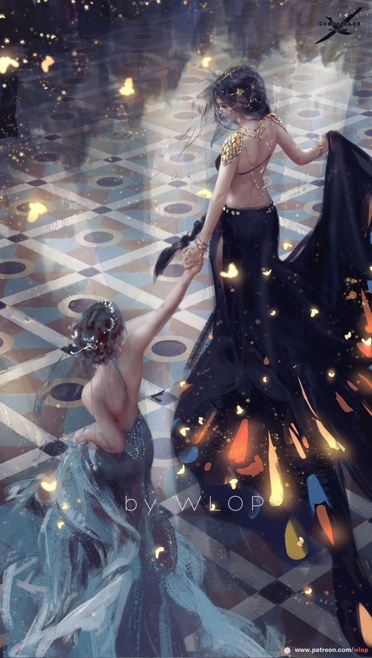*Gently holds her sweet seraphim's hand as she is being led to the dance floor as a beautiful walt