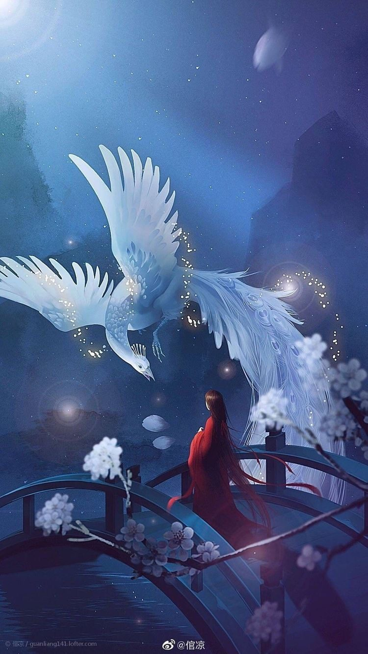 *Shows up to Helena in the form of a white phoenix* Hello my lady! You seem to have a lot on your mi