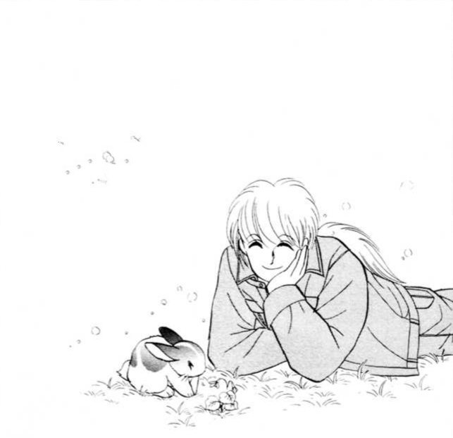 *he relaxing while looking at the rabbit* so cute… I wonder how is everyone doing right now IM