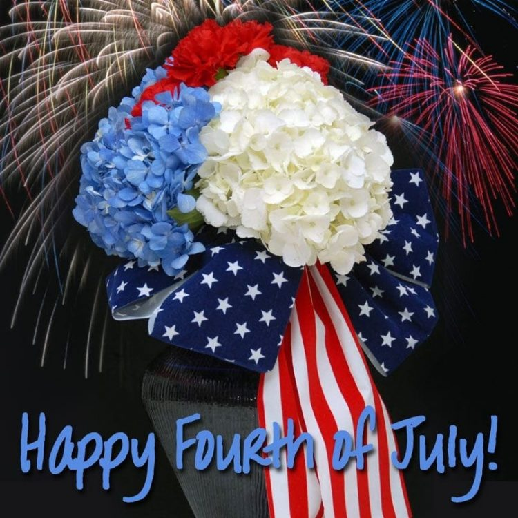 *Decorating the shop and preparing deliveries for the customers wanting 4th of July arrangements.* S