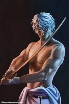 *In another area, Gintoki was also keeping his skills sharp.* sakata_gintoki_from_gintama_by_tthlain