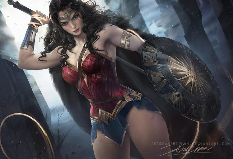 *Observing the beautiful Lady Helena training at the league.* @sweetsugardemon wonder_woman_by_sakim